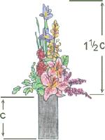 Le proporzioni in una composizione floreale