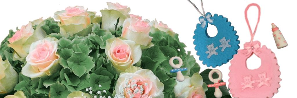 Ortensia con roselline